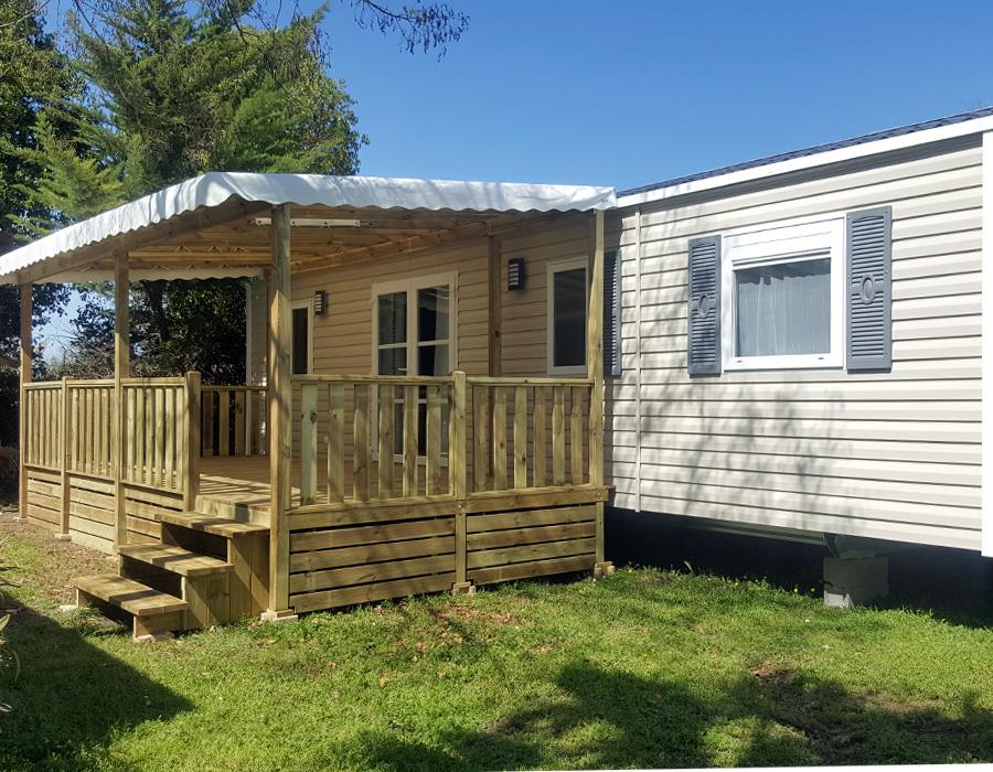 Mobil home 3 chambres avec terrasse